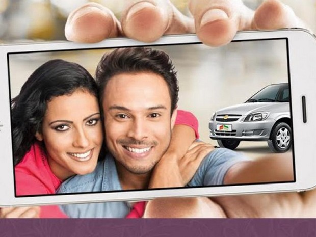 Campanha de Dia dos Namorados será veiculada em outdoors em Barretos, SP (Foto: Reprodução/Site do North Shopping)