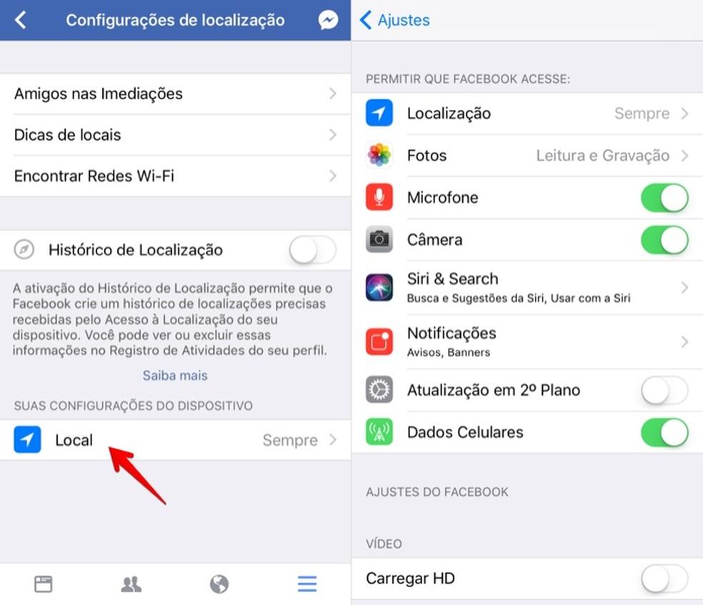Abra as configurações de privacidade do app do Facebook (Foto: Reprodução/Helito Bijora)