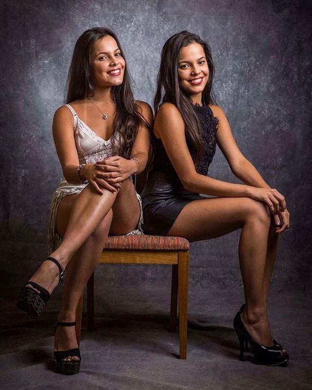 As manas, como gostam de se chamar: Emilly e Mayla Araújo, estudantes gaúchas de 20 anos (Foto: Divulgação / TV Globo)
