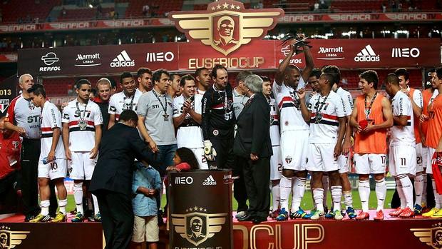 Rogerio ceni são paulo troféu eusebio cup (Foto: Isabel Cutileiro / SL Benfica)