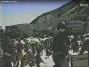 Cena do episódio Os Pobres Vão À Praia, de 1990 (Foto: Reprodução/Comalt)