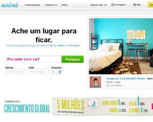 Rede on-line da Airbnb permite alugar quartos e imóveis em todo o mundo (Foto: Reprodução)