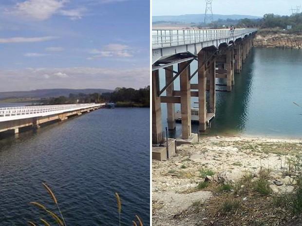 Ponte do Rio Turvo, entre São João Batista do Glória e Capitólio, no antes e agora (Foto: Reprodução Amigos do Rio Grande)