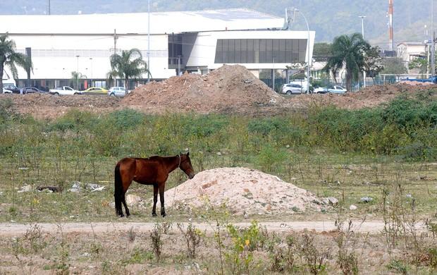 Terreno do Fluminense na Barra da Tijuca (Foto: André Durão / Globoesporte.com)