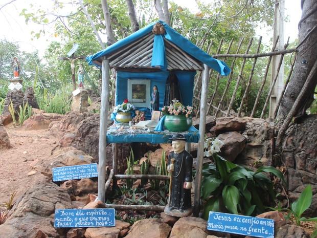 Santuário da Fé é um dos lugares mais visitados do museu (Foto: Pedro Santiago/G1)
