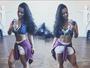 Viviane Araújo posta selfie na academia mostrando abdômen sarado
