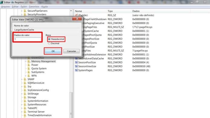 """Modifique a opção """"Dados do valor"""" digitando """"1″ e clique em """"OK"""" (Foto: Reprodução / Daniel Ribeiro)"""