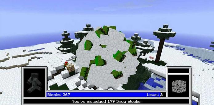 Katamari Damacy em Minecraft (Foto: Reprodução / YouTube)