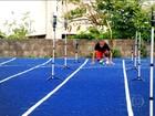 Estudante vira atleta olímpico por um dia e testa pista de velocistas
