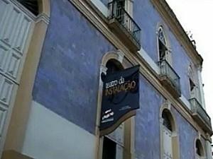 Teatro da Instalação no Centro de Manaus (Foto: Reprodução/TV Amazonas)