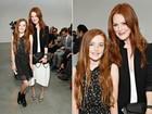 Julianne Moore vai com a filha (a cara da mãe!) a desfile em Nova York