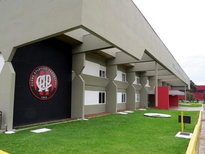 Fachada do CT do Caju Atlético-PR Seleção da Espanha (Foto  Fernando Freire 80ae269c131e5