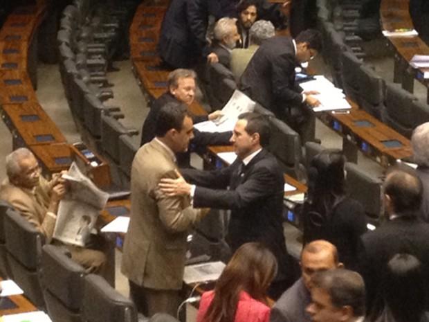 O deputado Natan Donadon (em partido-RO), no plenário da Câmara (Foto: Isaura Morgana/G1)