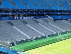 Setor da Geral na Arena do Grêmio (Foto: Tomás Hammes / GLOBOESPORTE.COM)