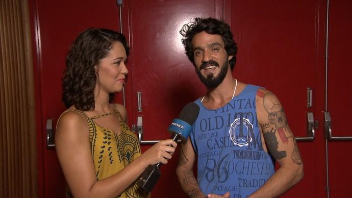 O cantor e ator Pedro Pondé fala da carreira, participação no 'Superstar' e gravação de 'Velho Chico' (Foto: TV Bahia)