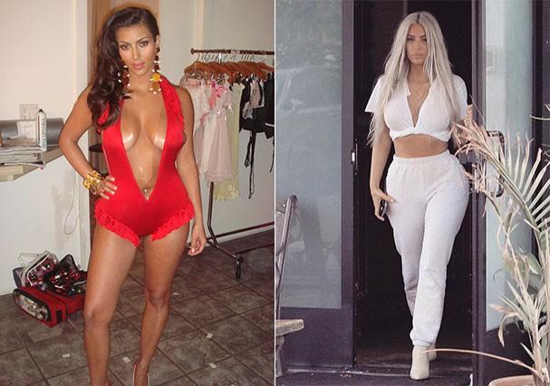 10 anos depois: Kim Kardashian parece outra pessoa  (Foto: Reprodução)