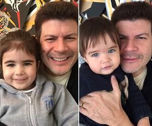 Paulo Ricardo é pai dos pequenos Isabela e Luis Eduardo (Foto: Arquivo Pessoal)