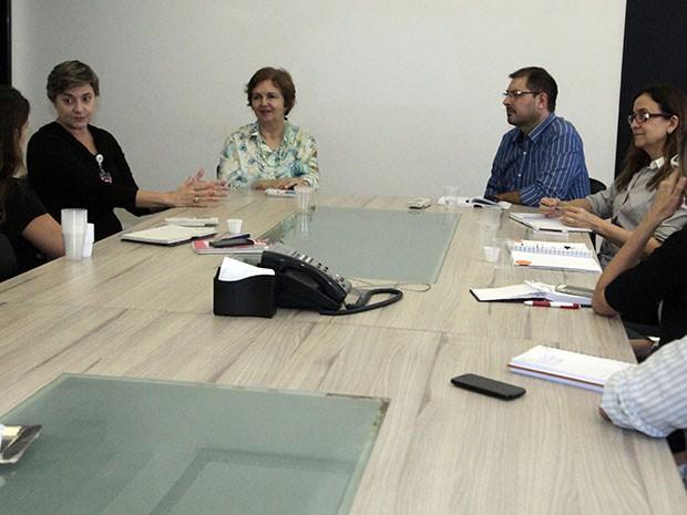 Reunião sobre Ação Global é realizada na TV Mirante (Foto: De Jesus / O Estado)