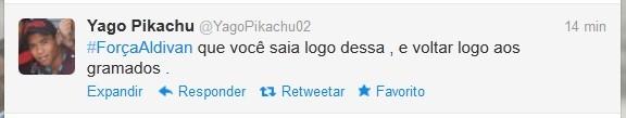 Yago Pikachu estava na base do Paysandu durante a passagem de Aldivan pelo clube (Foto: Reprodução / Twitter)