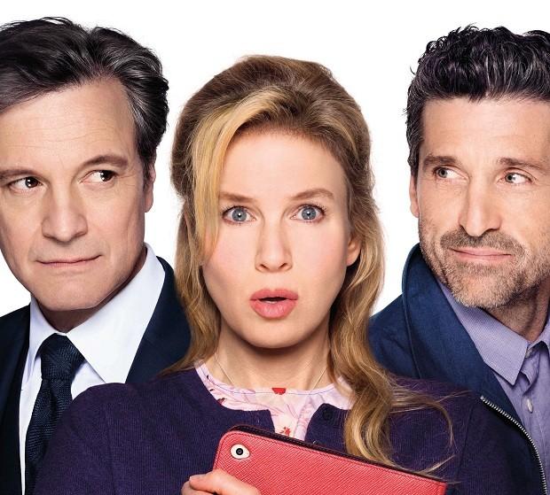 Mark (Colin Firth), Bridget (Renée Zellweger) e Jack (Patrick Dempsey) (Foto: Divulgação)