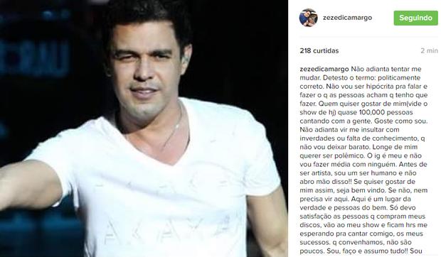 Zeze Di Camargo (Foto: Reprodução/ Instagram)