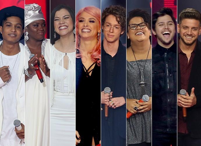 Semifinalistas comemoram permanência no The Voice Brasil (Foto: Isabella Pinheiro/Gshow)