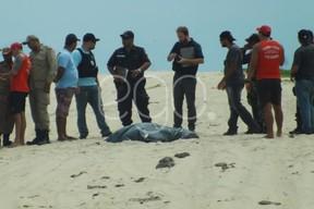 Corpo de Rian Brito encontrado em Quissamã (Foto: Luan Santos/ EGO)