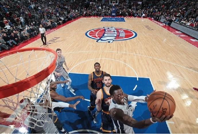 Cavaliers e Pistons (Foto: Divulgação/Pistons)