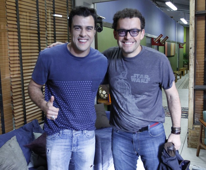 Joaquim Lopes e Fernando Rocha no 'Dança' (Foto: Fabiano Battaglin / Gshow)