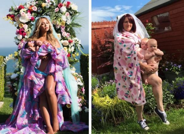 A foto de Beyoncé e da mãe irlandesa (Foto: Instagram)