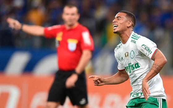 Gabriel Jesus. O atacante foi vendido pelo Palmeiras para o Manchester City (Foto: Getty Images)