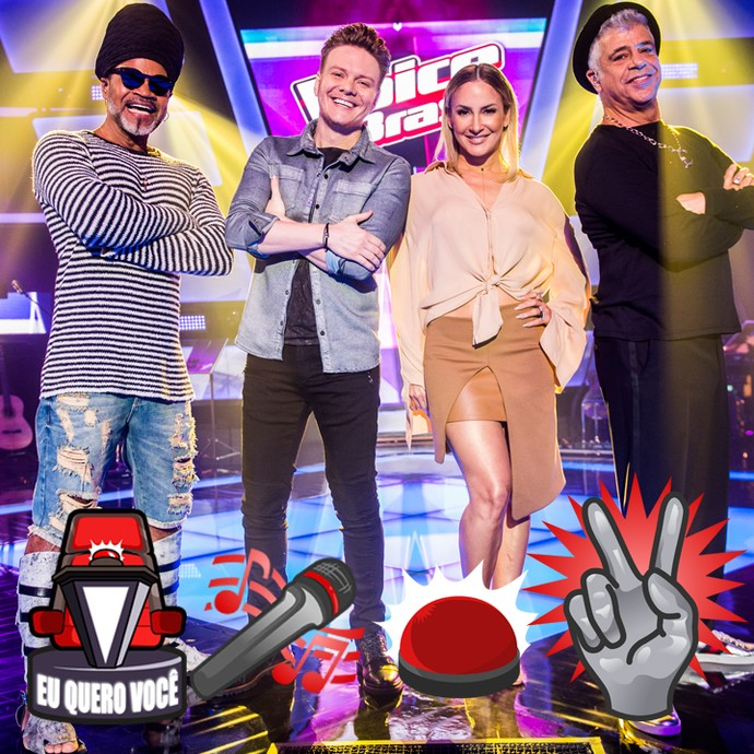 Stickers personalizados The Voice (Foto: Gshow)
