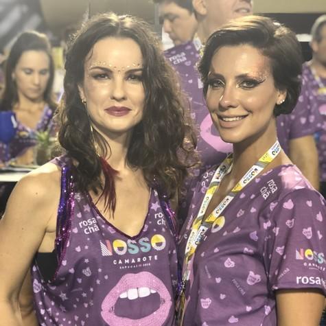 Carolina Kasting e Camila Rodrigues (Foto: Arquivo pessoal)