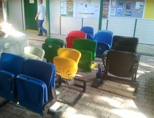 Cadeiras Maracanã (Foto: GLOBOESPORTE.COM)
