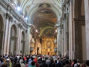 Multidão Buenos Aires (Foto: Carlos Augusto Ferrari/Globoesporte.com)