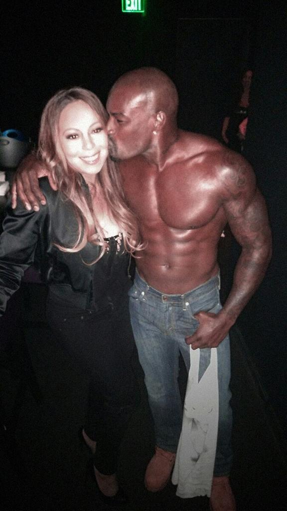 Mariah Carey e Tyson Beckford em Las Vegas, nos Estados Unidos (Foto: Twitter/ Reprodução)