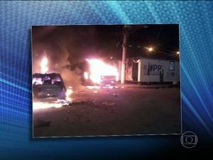 Conflito em ação da PM em Manguinhos  (Foto: Reprodução / TV Globo )