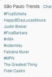 Trending Topics em São Paulo às 17h11 (Foto: Reprodução/Twitter.com)