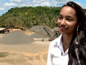 Riquezas do Piauí - Extração de brita (Foto: Reprodução/TV Clube)