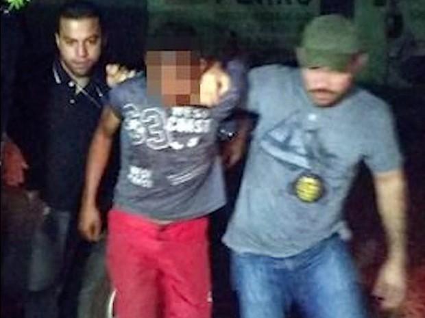 Suspeito de estuprar bebê foi preso em Pedro II (Foto: Reprodução/TV Clube)