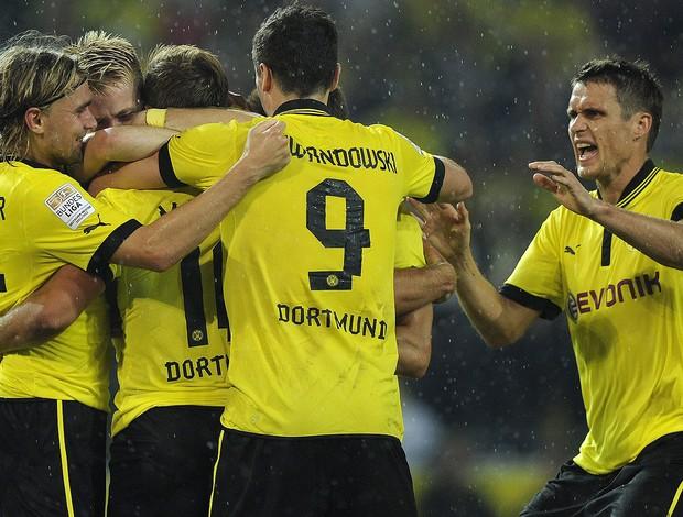 Comemoração, Gol do Gotze, Borussia Dortmund x Werder Bremen (Foto: Agência EFE)