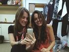 Alice Wegmann reencontra Bruna Marquezine: 'Fico tão feliz'