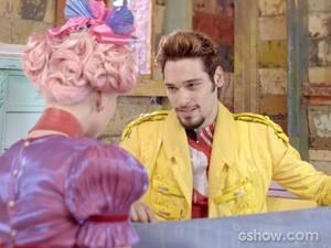 Renato fala em casamento com a namorada (Foto: Meu Pedacinho de Chão/TV Globo)