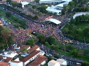 Concentração da Tusca na USP de São Carlos (Foto: Reprodução/EPTV)