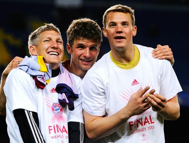 Schweinsteiger, Müller e Neuer Bayern (Foto: Getty Images)