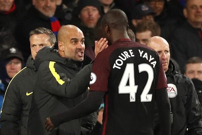 Yaya Touré Manchester City x Crystal Palace (Foto: Reuters)