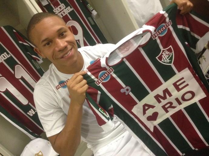 Wellington Silva camisa Fluminense Ame o Rio (Foto: Twitter/Fluminense)