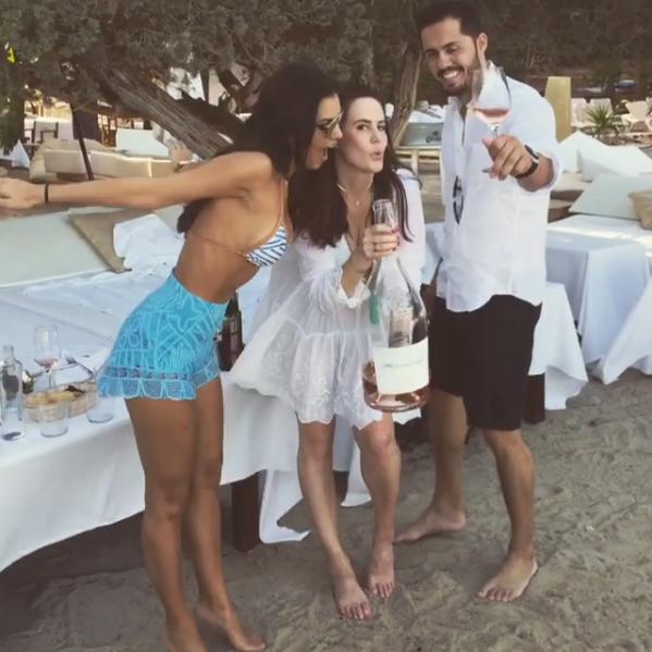 Mariana Rios com Renata Goldfarb e Albano Azevedo (Foto: Reprodução/Instagram)