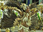 Quitéria Chagas desfila barriguinha na passarela do samba carioca