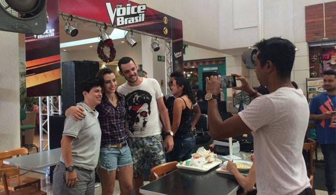 Juliana Gomes conquistou os quatro técnicos do programa e fez parte do time de Cláudia Leite (Foto: Ana Gabriela Faria )